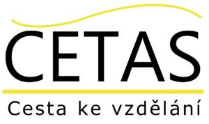 CETAS logo, černé